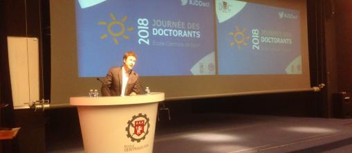 Adrien Basdevant intervient lors de la journée des doctorants de Centrale Lyon
