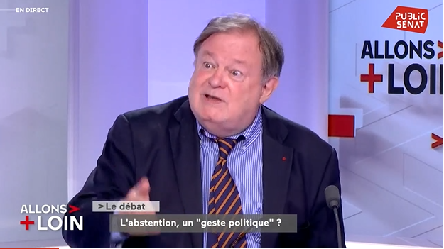 Jean-Pierre Mignard invité de Public Sénat pour débattre des moyens de lutte contre l'abstention